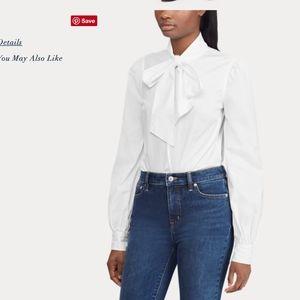 NWT Lauren RalphLauren Necktie Broadcloth Shirt XL